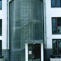 Treppenhaus Verglasung, Wohnanlage Köln