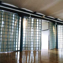 Glasbausteinwand innen, Trennwand, Aachen