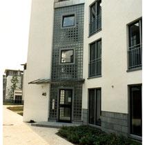 Treppenhaus-Verglasung, Köln; Dekor: Klarsicht
