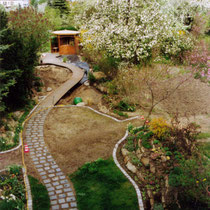 der Steingarten ist fertig