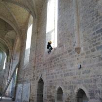 ©Florian Chenu Lavage de Baies Vitrées Abbaye de Beaulieu en Rouergue