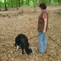 Astrid mit Fährten-Profi Silas