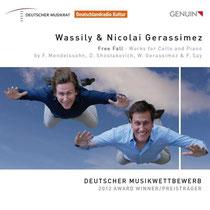 Free Fall - Werke von Mendelssohn, Schostakowitsch, Gerassimez und Fazil Say - Nicolai Gerassimez, Klavier; Wassily Gerassimez, Violoncello
