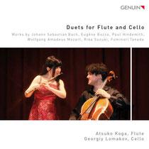 Duets for Flute and Cello - Werke von Bach, Bozza, Hindemith, Mozart, Suzuki und Tanada - Atsuko Koga, Flöte; Georgiy Lomakov, Violoncello