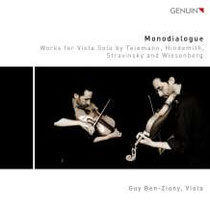 Monodialogue - Werke für Viola solo von Telemann, Hindemith, Strawinski und Wiesenberg - Guy Ben-Ziony, Viola