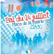 Illustration de la fête du 14 juillet de la ville de Saint-Cloud