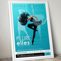 Affiche spectacle danse 2014 - Saint-Quentin-en-Yvelines