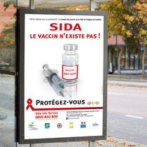 Affiche campagne anti-sida - Saint-Quentin-en-Yvelines - Agence Pragma