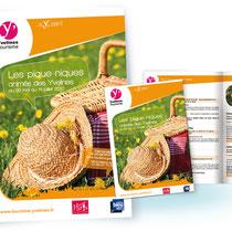 Affiche et brochure des piques-niques du département des Yvelines