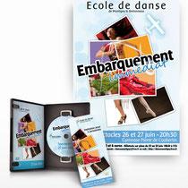 Création de l'affiche du spectacle de l'école de danse de Montigny-le-Bretonneux - Photomontage - Collage