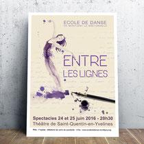 Affiche spectacle danse 2016 -Saint-Quentin-en-Yvelines