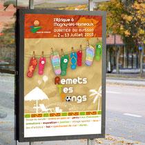 Création de l'identité du programme culturel estival de la mairie de Magny-les-Hameaux - Agence Pragma