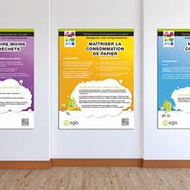 Création de la mascotte et de la campagne - Ecogestes au travail Egis - Agence Pragma