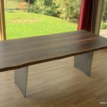 Tischplatte Nussbaum
