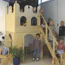 """CNC-Frästeile für eine Ritterburg in der Kindertagesstätte """"Tausendfüssler"""", Herford"""