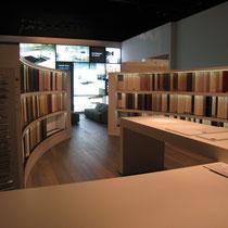 Musterschrank in der Ausstellung Fa. pronorm Einbauküchen, Vlotho
