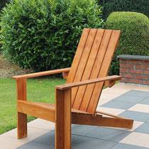 Gartenstuhl in Carolina Pine geölt - Design: Ingenieurbüro Hans-Peter Grau, Espelkamp