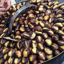 Roasted chestnuts on the streets of Rome.