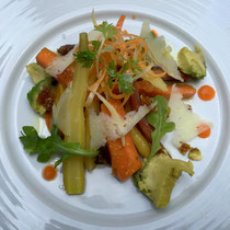 Heirloom carrot salad...yes, the name of the salad is as important as the quality of the ingredients.