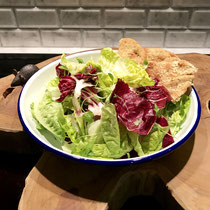 Same salad - Balcony to Table Lettuce, baby gems, radicchio, and microgreens salad with black truffle dressing.  I can eat this EVERY night.
