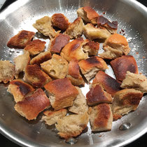Homemade croutons make all the difference.  So easy and fast.