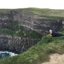 The amazing J.P. Mahon, relaxing at The Cliffs of Moher.  I couldn't look down!