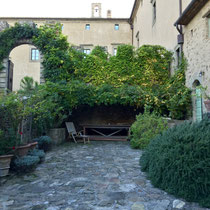 Courtyard of the Tuscan castle.
