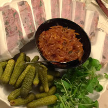 Have you ever seen pate served like this?  Portions individually wrapped.  Sets the standard.  I have to do this!