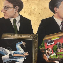 The Art Thieves   48 x 30   Mixed media on canvas   $1450