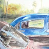 Bel Air Paradise  38 X 48 watercolor  by Tony Armendariz   $3000