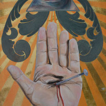 The Evil Eye   Mixed media on panel