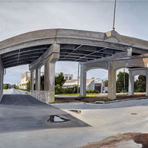 "Central Ave Viaduct at N. 1st Street by Russell Horton, Oil on canvas, 21 1⁄4""x44 1⁄4"", $5000"
