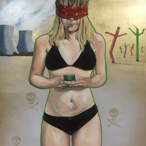 Distraction   24 x 33.5   Mixed media on panel   $800