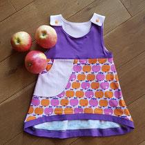 20% Äpfelchen, Größe 80, Passe hinten rosa, Rock hinten Äpfelchen, 25€ - 20% = 20€