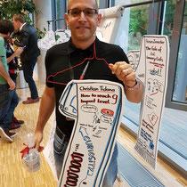Graphic Recording bei TEDx Uni Heidelberg - Thema: Absurdity Warum also nicht alle Recordings wie Kleidungsstücke auf Kleiderbügel hängen...:-)