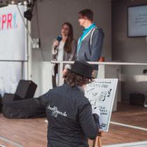 Graphic Recording der Vorträge des Start Up Summit 2017 in Kaiserslautern - Foto: Yukio Tee