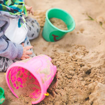 Sandburgenbauer in ihrem Element!