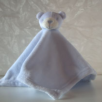 Schmusetuch Bär hellblau