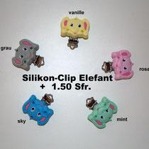 Silikon-Clip Elefant