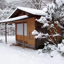 Teehaus im Winter