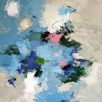 """Tableau Peinture Abstraite Contemporaine:  """"Authenticité"""" (65X81) © (Enduit de Chaux/ bois)"""