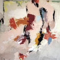 """Tableau Peinture Abstraite Contemporaine: """"La sagesse"""" (94X122) © (Enduit de Chaux/ bois)"""