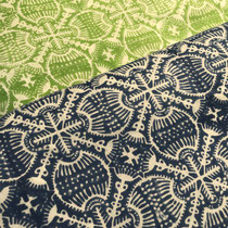 Hand Block Printed Fabrics, 100% cambric cotton, made in Rajasthan, designed by Maasa Production Pvt. Ltd.