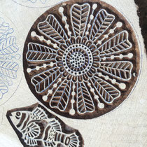 Indian wood printing blocks made in Rajasthan - hand carved