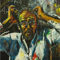 Die Angst des Malers vor den Rezensenten  104 x 84 cm