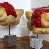 Nick und Nax, Kunststein 150 pro Stück, 280 als Paar