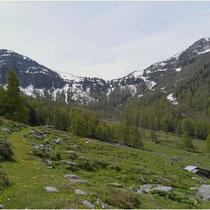 Blick zur oberen Meretschi 01.06.2014