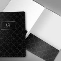 A4 Folder Design for API Investment - 2014