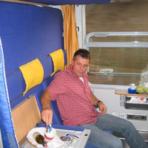 Im Autozug nach Hamburg