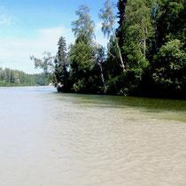 Zusammenfluss Talachulitna - Skwentna River